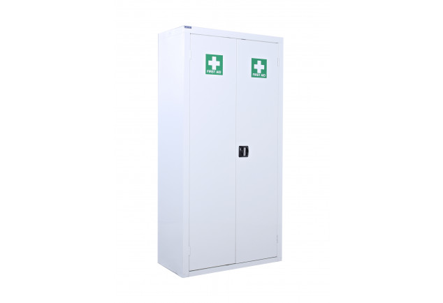 Floor Standing First Aid Cupboard 3 Shelves 1800 x 900 x 460mm