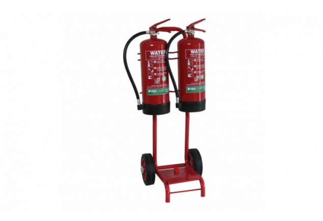 Double Fire Extinguisher Trolley