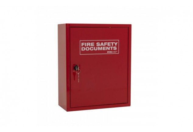 Red Metal Fire Document Cabinet - Key Lock