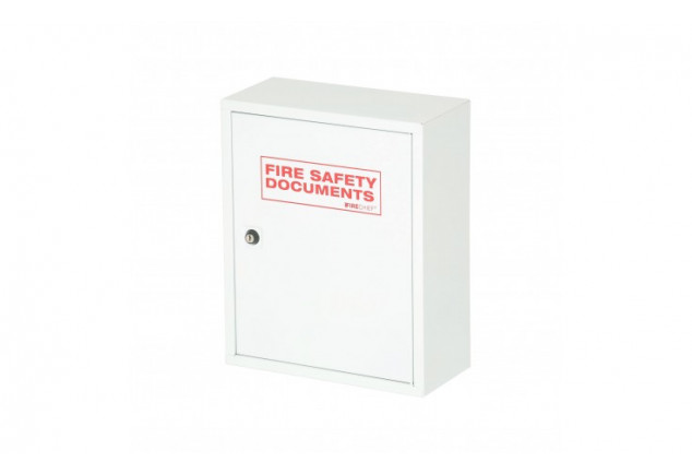 White Metal Fire Document Cabinet - Key Lock