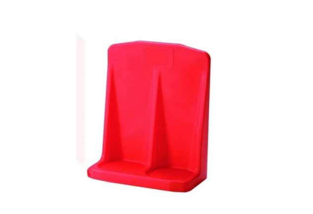 Double Fire Extinguisher Stand Red