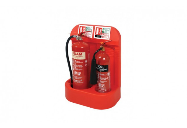Double Fire Extinguisher Stand Feat Co2 Holder