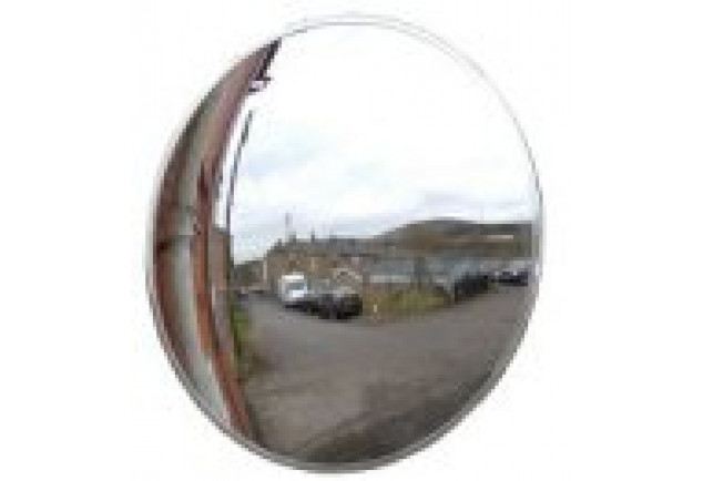 Convex Polycarbonate Mirror Pole Mounted 450mm