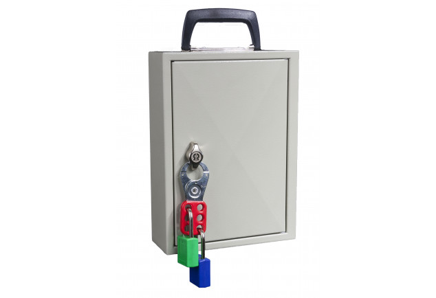 Mobile Key Cabinet 30 Keys - Padlockable Cam