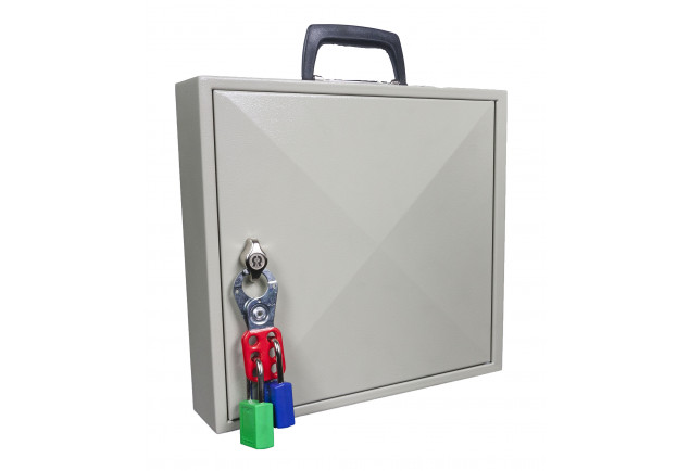 Mobile Key Cabinet 50 Keys - Padlockable Cam