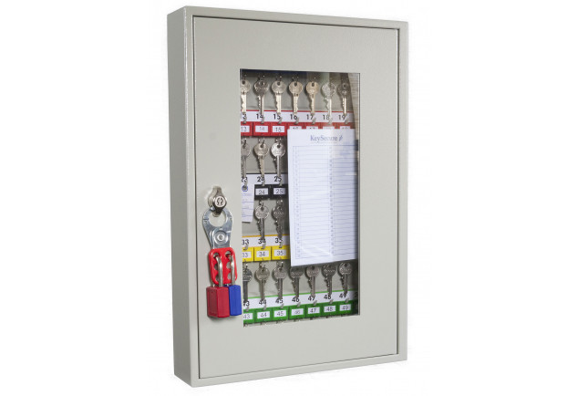 Key View Cabinet 50 Keys - Padlockable Cam