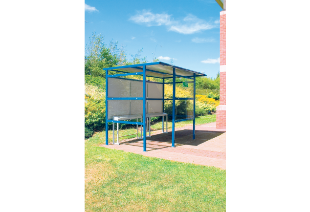 Smoking Shelter 12 Person - Steel Back Panel