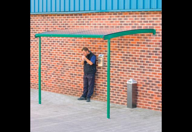 Smoking Shelter Wall Mounted - Large