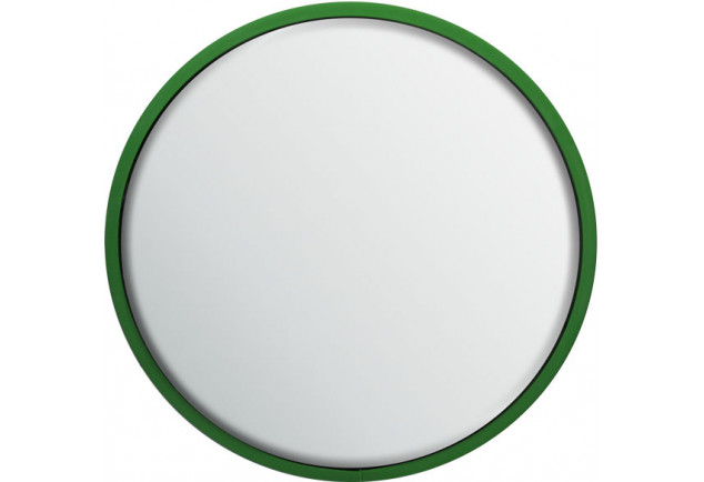 Round Safety Mirror Pole Mounted 800mm - Green