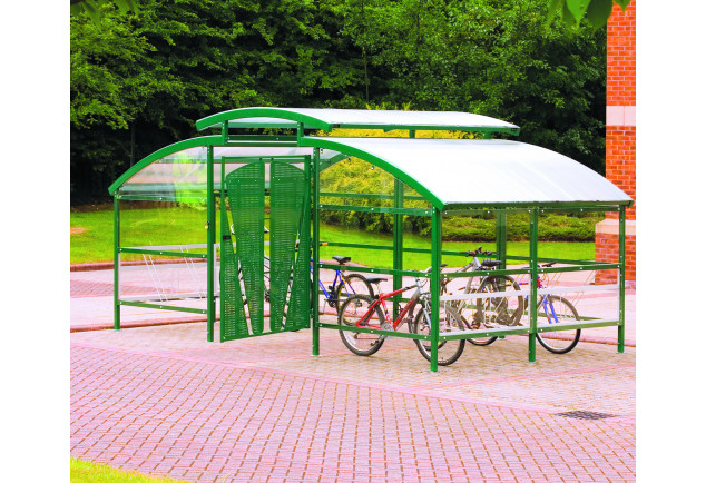 Compound Cycle Shelter inc Canopy - 32 Bikes