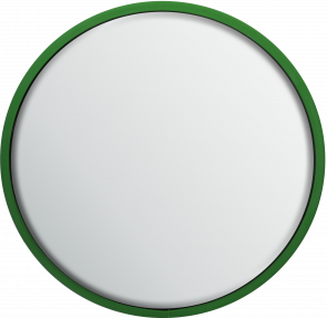 Round Safety Mirror Wall Mounted 600mm - Green