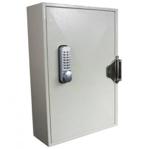 Deep Self Closing 100 Hook Key Cabinet - Mechanical Digital Lock