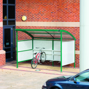 Premier Cycle Shelter Perforated Steel Sides