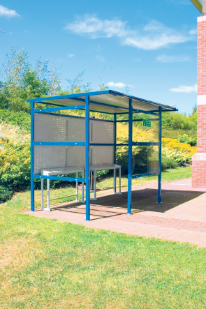 Smoking Shelter 9 Person Large - Steel Back Panel