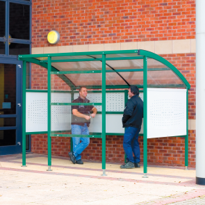 Smoking Shelter Premier with Steel Sides
