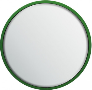 Round Safety Mirror Pole Mounted 600mm - Green