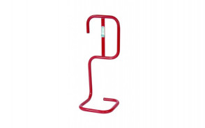 Red Tubular Fire Extinguisher Stand Single