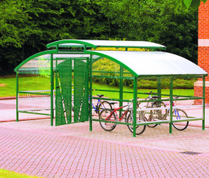 Compound Cycle Shelter inc Canopy - 16 Bikes