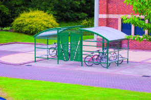 Compound Cycle Shelter - 32 Bikes